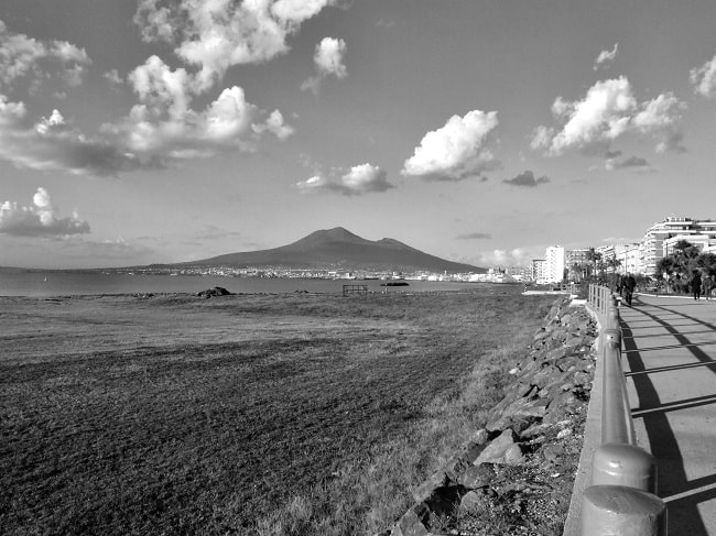 Mount Vesuvius seen from Castellammare di Stabia
